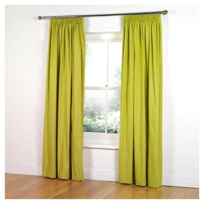 Tesco Plain Canvas Unlined Pencil Pleat Curtains W117xL183cm (46x72