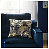 Fox & Ivy Feather Pattern Cushion