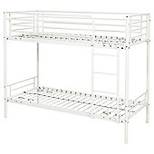 Mika Shorty Metal Frame Bunk Bed, White
