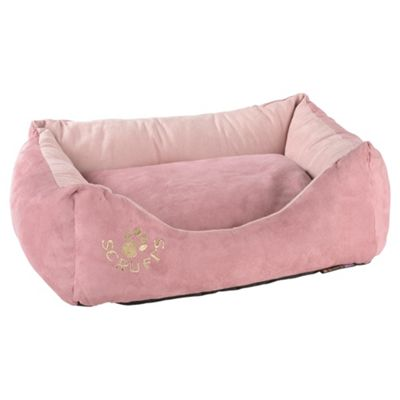 Scruffs faux suede pet bed small pink