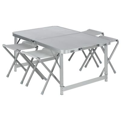 Tesco Double Folding Aluminium Camping Table & Chairs Set