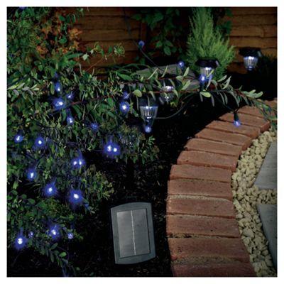 50 Berry Blue LED Solar Line Light