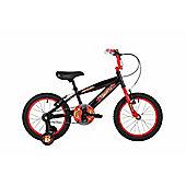 "Bumper Ninja 16"" Wheel Pavement Bike Black/Red Stabilisers"