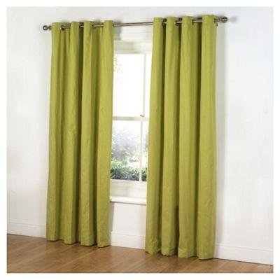 Tesco Plain Canvas Unlined Eyelet Curtains W168xL229cm (66x90