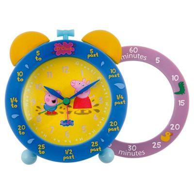 Wesco Peppa Pig Time Teaching Twinbell Alarm Clock