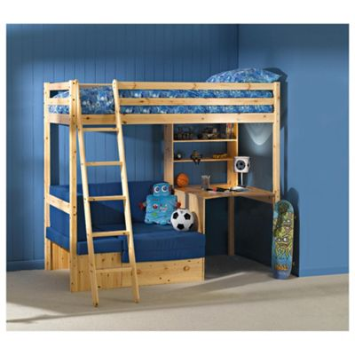 Buy Ashley Pine High Sleeper With Office Guest Bed From Our Mid