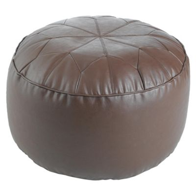 Moroccan Pouffe, Light Brown