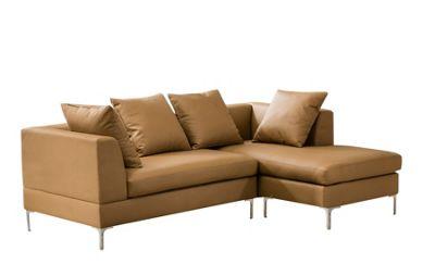 Manhattan Corner Chaise Sofa - Camel Brown