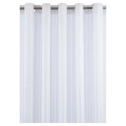 Tesco Satin Stripe Shower Curtain