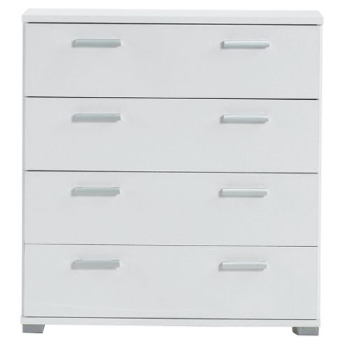 Fresno 4 Drawer Chest, White