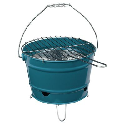 Tesco Portable Bucket Charcoal BBQ