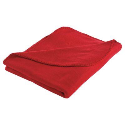 Tesco Kids Fleece Blanket, Red
