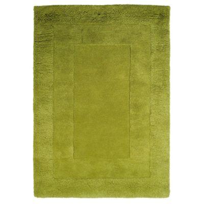 Tesco Rugs Tiered Wool Rug, Green 150X240Cm