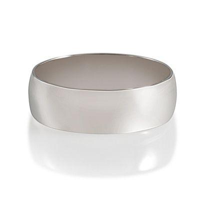 Palladium 6mm D-Shape Gents Ring, U