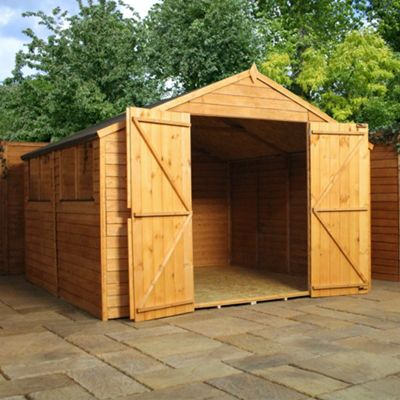 Mercia Apex Overlap Wooden Shed, 10x10ft