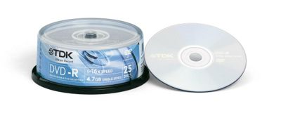 TDK DVD-R spindle - pack of 25