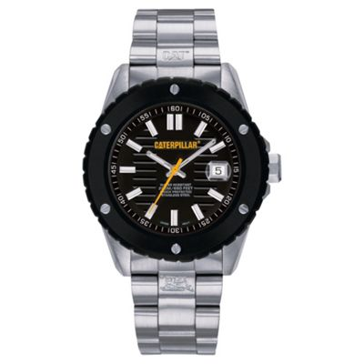 Men's Black Dial,Stainless Steel 3 Hand Date