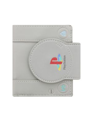 Playstation Shaped Bifold Grey Wallet 11x11.5x2cm