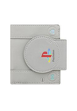 Playstation Shaped Bifold Grey Wallet 11x11.5x2cm