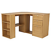 Fraser Oak Effect Corner Desk with Storage