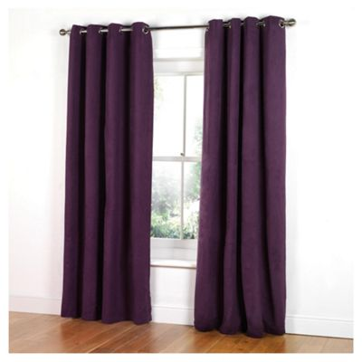 Tesco Faux Suede Unlined Eyelet Curtains W168xL137cm (66x54