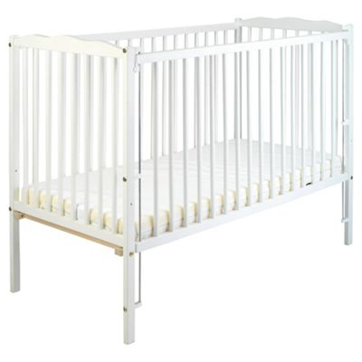 Saplings Jessica Cot With Mattress, White