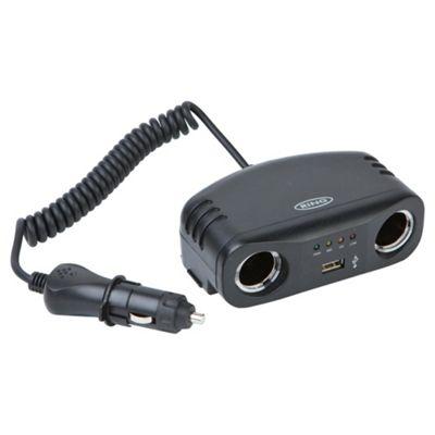 DC 12V Multisocket with USB Charging Socket