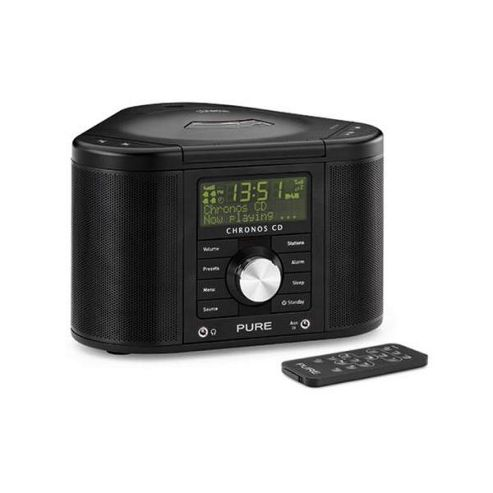 Pure Chronos Cd Ii Cd/Dab/Dab+/Fm Alarm System (Black)