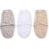 Summer Infant Small SwaddleMe 3 Pack (Lions & Stripes)