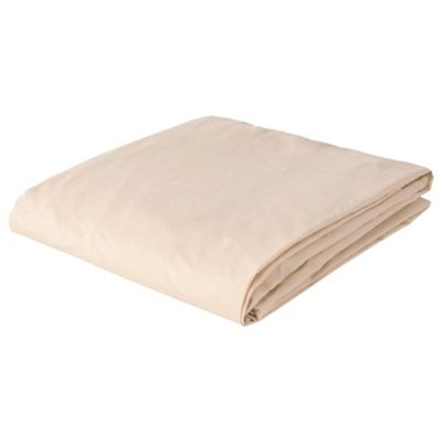 Tesco King Size Fitted Sheet, Biscuit