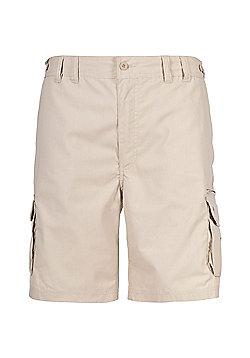 Trespass Mens Gally Multi Pocket Cargo Shorts - Beige