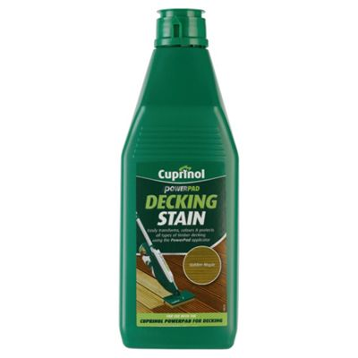 Cuprinol Power Pad Decking Stain, 1L, Golden Maple
