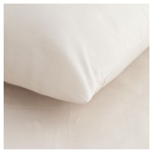 Tesco Twin Pack Pillowcase, Biscuit