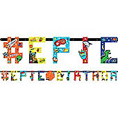 Epic Party Jumbo Letter Banner - 3.2m Add An Age Banner