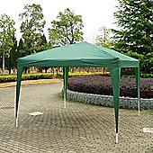 Outsunny 3 x 3m Garden Pop Up Gazebo Foldable Canopy UV Protection + Carry Bag (Green)