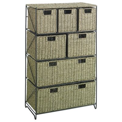 Tesco Seagrass 7 Drawer Storage Tower