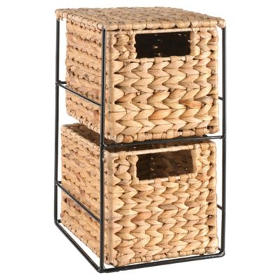 Tesco Water Hyacinth 2 Drawers Storage Unit