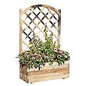 Rectangular planter with lattice