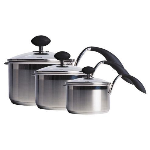 Easy Grip 3 piece Arc Saucepan Set