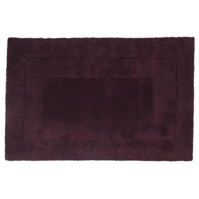 Tesco Rugs Tiered Wool Rug, Plum 150x240cm