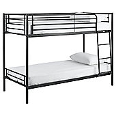 Mika Twin Metal Bunk Bed, Black