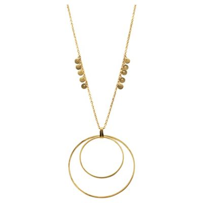 Elspeth Gibson Gold Double Hoop Necklace