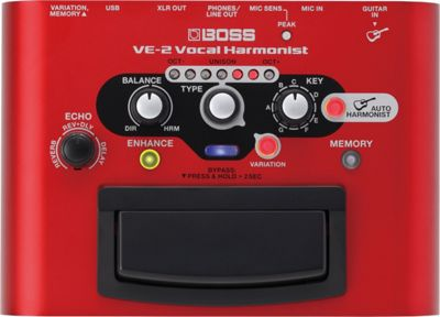 Boss VE-2 Vocal Harmonist Studio Level Vocal In An Easy To Use Stompbox