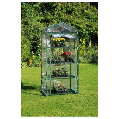 Tesco 4 Tier Growhouse with Metal Frame and Plastic cover