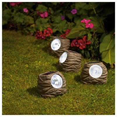 Solar Rock Garden Lights - 4 Pack