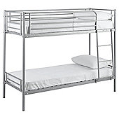Mika Shorty Metal Frame Bunk Bed, Silver