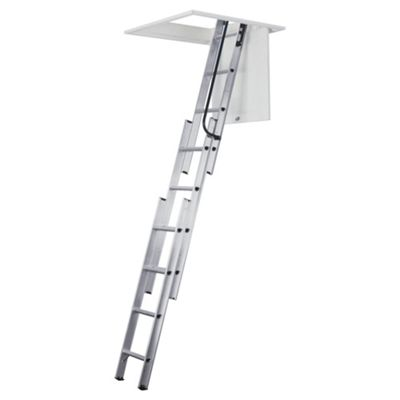 Abru 3-Section Easy Stow Aluminium Loft Ladder, 37003