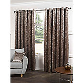 Crushed Velvet Beige Eyelet Curtains - 90x72 Inches (229x183cm)