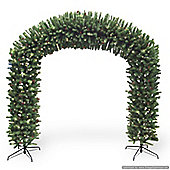 8ft Pre-lit Christmas Arch with Pinecones (900 warm white LEDs)