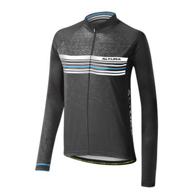 Altura Womens Sportive Team Long Sleeve Jersey Black/Blue Size: 14